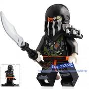 Generic Legoingly Ninja Figures Calaberas Samukai Lloyd GARMADON with Four Hands Gold Weapons Action Toy Building Blocks Brick Toys A089 A023