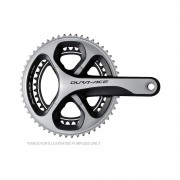 Shimano Dura-Ace FC-9000 Bicycle Chainset 52-36T - 52-36T 172.5mm - Black/Silver