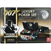 James Bond- Compact Poker Set of Cards with 200 Chips specially made for Poker players world wide