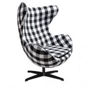 KH Fotel JAJO kratka insp. Egg Chair - podstawa czarna