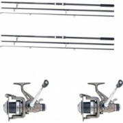 Set pescuit Baracuda 2 lansete Evolution Carp 3.90 m + 2 mulinete Tricky Carp 60