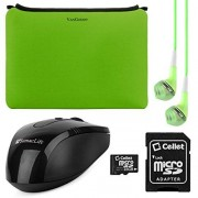 VanGoddy Smart Sleeves / Funda Para HP ProBook 640 G1 / HP ProBook 440 G2 14-inch Laptops + Headphones + USB Mouse + 16GB Memory Card (Green)