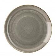 Churchill Super Vitrified Churchill Stonecast Round Coupe Plate Peppercorn Grey 200mm
