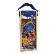 Babytintin Magnetic Wooden Marine Animal Puzzle Learning Game with Wooden Carry Case (20 Pcs) (Marine Animals)