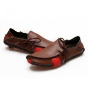 Slip-on Fashion Breathable Casual Leather Shoes for Men