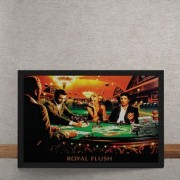 Quadro Decorativo Poker Royal Flush Marylin Monroe Elvis Presley James Dean Humphrey Bogart 25x35