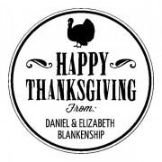 Trodat Tampon monogramme rond - Happy Thanksgiving