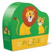 Puzzle Regele Leu şi Fiul Său în Cutie cu Formă Originală