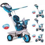 Детска Триколка 4 в 1 Dream синьо с черно, Smar Trike, 4897025792777