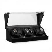 Klarstein CA2PM Remontoir de luxe pour 4 montres 4 programmes - optique carbone