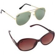 Aligatorr Combo Of 2 Cat Eye Aviator Unisex Sunglasses ldy brnggnCRLK