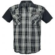 Powerwolf Crest Worker Herren-Kurzarmhemd - Offizielles Merchandise S, M, L, XL, XXL Herren