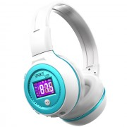 ZEALOT B570 HiFi Bluetooth Headphone with Mic Support FM Radio Micro-SD Card - Blue