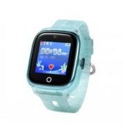 Ceas Smartwatch Pentru Copii Wonlex KT01 cu Functie Telefon Localizare GPS Camera Pedometru SOS IP67 - Turcoaz Bonus Cartela Prepaid Vodafone 10
