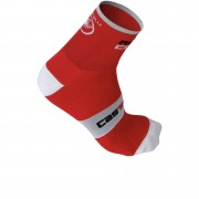 Castelli Rosso Corsa 13 Cycling Socks - Red - L-XL - Red