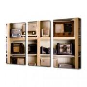 Tablou Canvas Premium Abstract Multicolor Masina De Scris Neagra Decoratiuni Moderne pentru Casa 3 x 70 x 100 cm