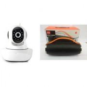 Mirza Wifi CCTV Camera and Mini Xtreme K5 Plus Bluetooth Speaker for SAMSUNG GALAXY CORE PRIME 4G(Wifi CCTV Camera with night vision |Mini Xtreme K5 + Bluetooth Speaker)