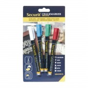Securit 2mm Liquid Chalk Pens Assorted Colours (Pack of 4)