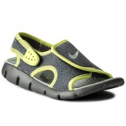 Sandale NIKE - Sunray Adjust 4 (GS/PS) 386518 013 Dark Grey/Wolf Grey/Volt