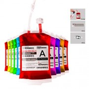 Live Blood of Theme Parties Blood Bag Drink Container Set of 10 IV Bags 11.5 Fl Oz, Halloween Party Cups, Gag Gift by meowtastic