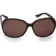 Celine Dion Oval Sunglasses(Brown)