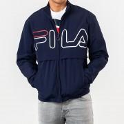 FILA Dani Large Logo Track Jacket Peacoat