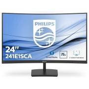 Philips 59,9 cm (23,6 Zoll) Curved Full HD Monitor »241E1SCA/00«, schwarz, Energieeffizienzklasse B