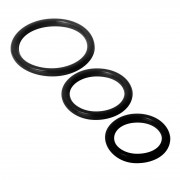 Trinity Silicone Cock Rings Black