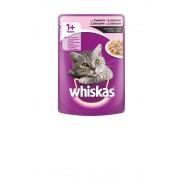 Котешка храна Whiskas Pouch сьомга, 6 броя х 100 г