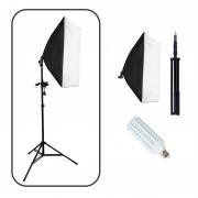 Strobolight Youtuber_4060 LED - Комплект видео светодиодного света софтбокс с лампой и стойкой