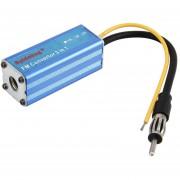 DC 12V AUTO Automóvil 16MHz Aluminio Azul FM MP3 Convertidor Adaptador Convertidor De Impedancia T-3x Car Audio Accesorios