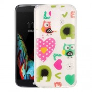 For LG K10 Love Owls Pattern IMD Workmanship Soft TPU Protective Case