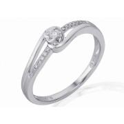 Luxusní mohutný zlatý zásnubní prsten s diamantem, bílé zlato brilianty 3861833-