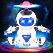 11006 3-ch Musica Dancing Robot LED De Colores, Tamaño: Acerca De 15,7 X 8,4 X 21.5cm (azul)