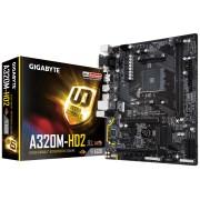 Tarjeta Madre Gigabyte GA-A320M-HD2 AMD S-AM4 Ryzen / 2 x DDR4 / 4 x USB3.1, GA-A320M-H