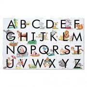 Melissa & Doug Piso rompecabezas del ABC Aprende el alfabeto (superficie fácil de limpiar, promueve la coordinación mano-ojo, 24 piezas, 60.96 cm largo x 91.44 cm de ancho)