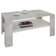 CARO-Möbel Couchtisch ANIMO in Betonoptik/weiß, 100 cm breit