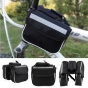 Калъф за рамката на колело за мобилни телефони до 4,7 инча (черен)