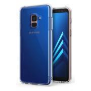 Husa Protectie Spate Ringke Fusion Clear plus folie protectie display pentru Samsung Galaxy A8 Plus 2018
