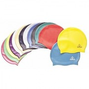 2 QTY High Quality Silicone Swimming Cap Swim Head Cover Hair Protection