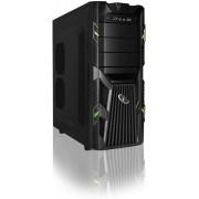 ATX gaming PC kast, midi-tower, groen