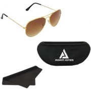 Adam Jones Golden Aviator Sunglasses for men and women (Golden Frame with Gradient Lens )