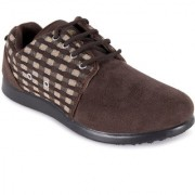 Action Men'S Brown Lace-Up Casual Shoes