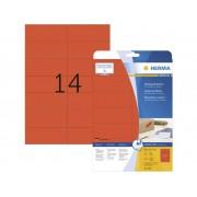 Herma 5059 Etiketter 105 x 42.3 mm Papper Röd 280 st Permanent Universaletiketter, Signal-etiketter Bläck, Laser, Kopia 20 Papper DIN A4