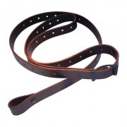 Andys Leather Rhodesian Slings - 1 Rhodesian Sling W/ Black Hardware No Swivels Walnut