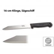 Löffler Schneidewaren Co. Allzweckmesser aus Solingen, Edelstahl, 16-cm-Klinge, Sägeschliff