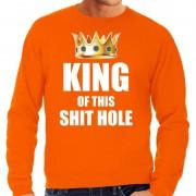 Bellatio Decorations Koningsdag sweater Im the king of this shit hole oranje voor her XL - Feesttruien