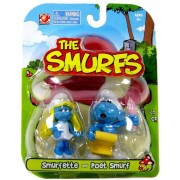 Smurfs 2 Inch Articulated Mini Figure 2 Pack Smurfette And Poet Smurf