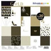 Artemio Papier do scrapbookingu 30,5x30,5 cm - Gold