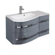 Oristo Opal szafka z umywalką lewa 90x50x44cm szary połysk OR30-SD4S-90-3-L/UME-OP-90-92-L